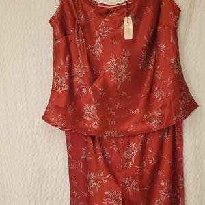 Victoria's Secret Red Silky Soft Satin Sleepwear
